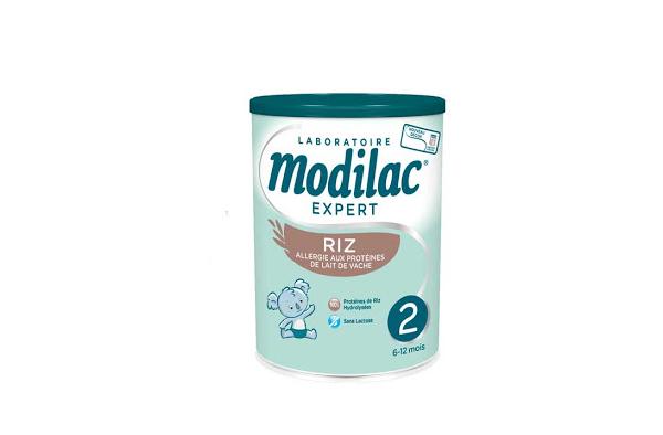Test et avis Modilac Expert Riz 2, lait de riz infantile pour allergie aux protéines de lait de vache