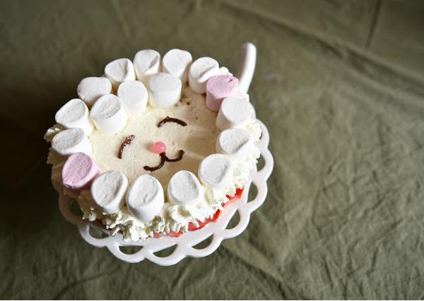 Fraisier gâteau d'anniversaire (sans lait)